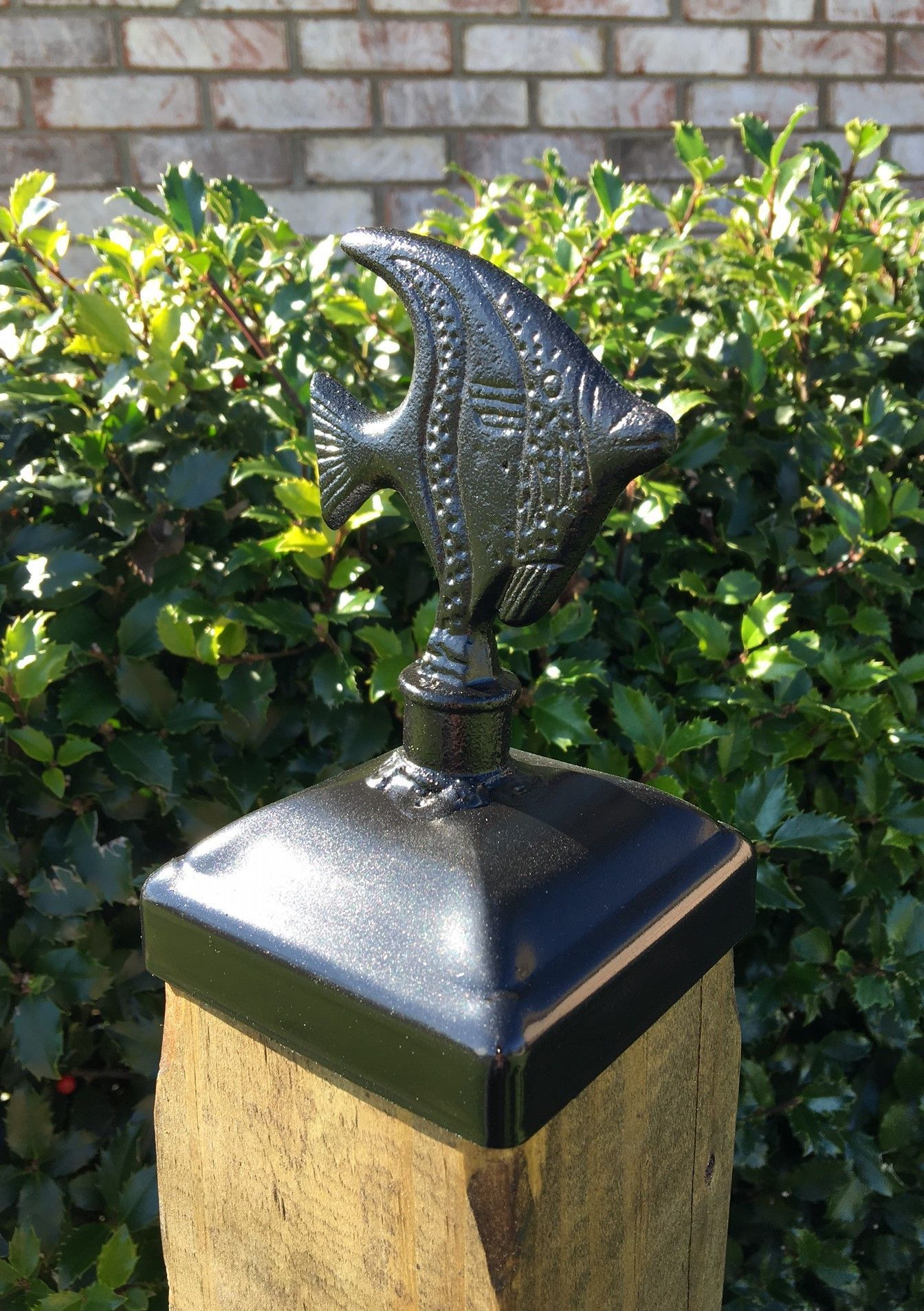 Decorative Fish Post Cap For 4x4 Wood Fence Post Wood Fence Post