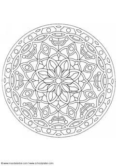 Kleurplaat mandala-1602c