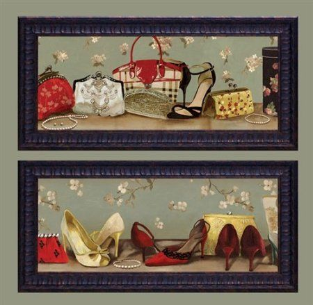Amazon.com - Shoes and Purse 2 pack framed 11x23 fashion womens ...