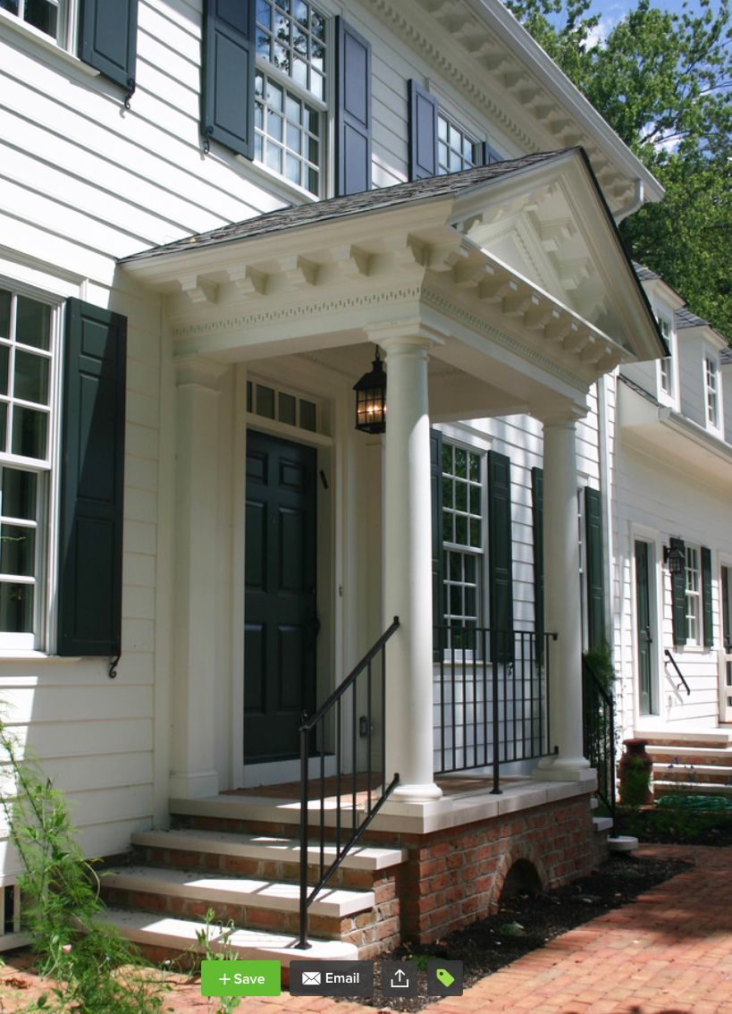 Beautiful Detailing On An Impressive Gable Roof Portico Portico Design Front Porch Design Colonial Front Door