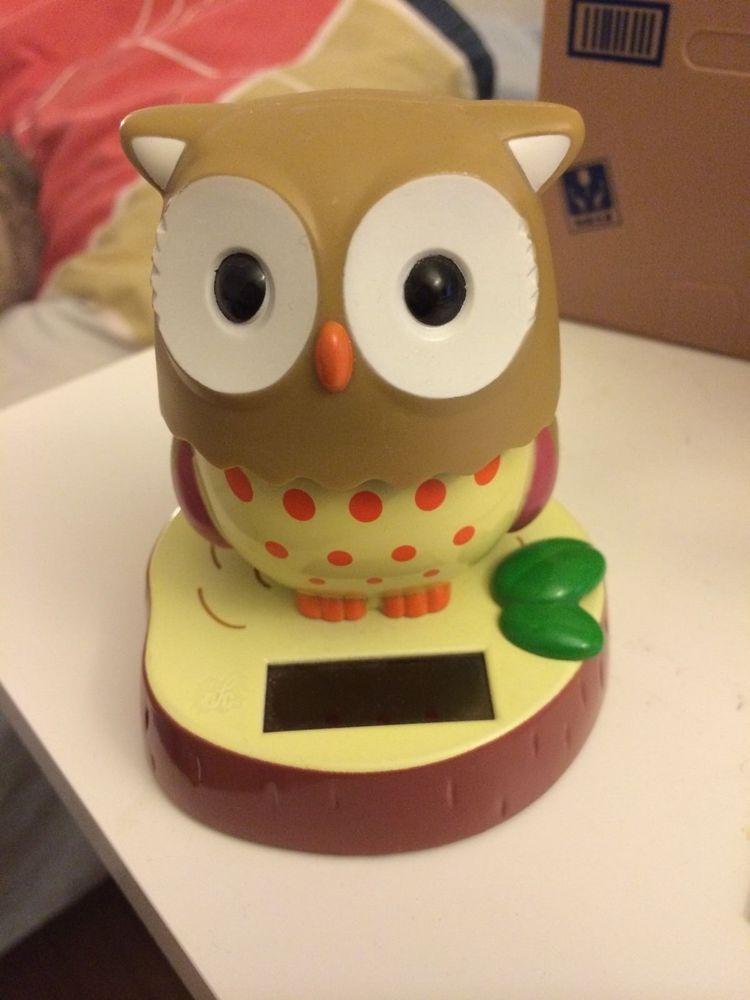 Solar Bubble Head Owl Car Dashboard Decoration I Me My Mine