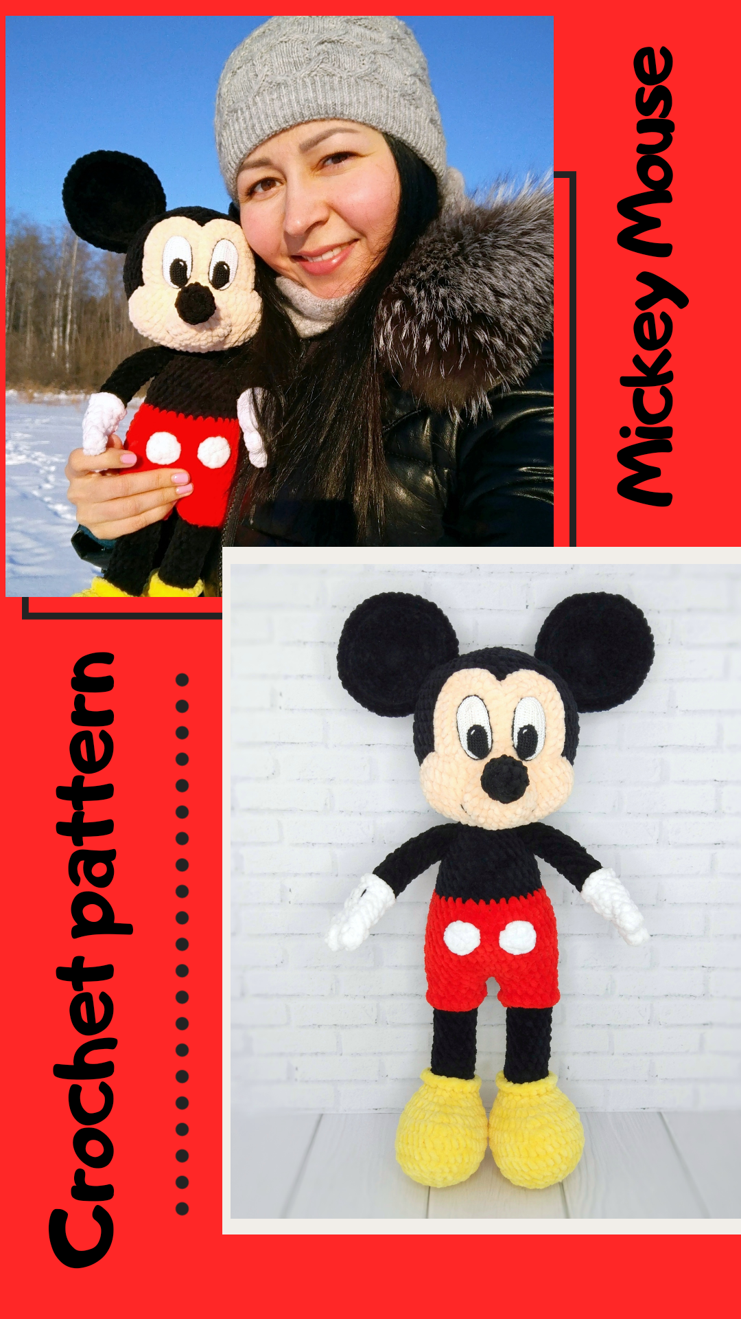 Amigurumi Crochet Mickey Mouse Patterns - Amigurumi Patterns Tutorials | 1920x1080