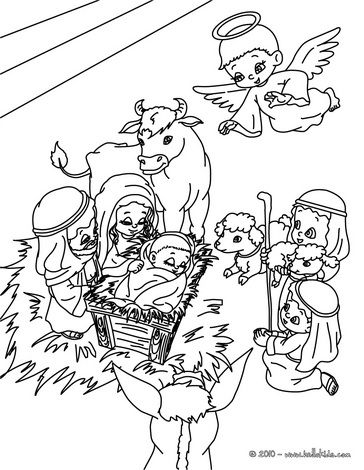 Baby Jesus Holy Family Bethlehem Coloring Page Nativity