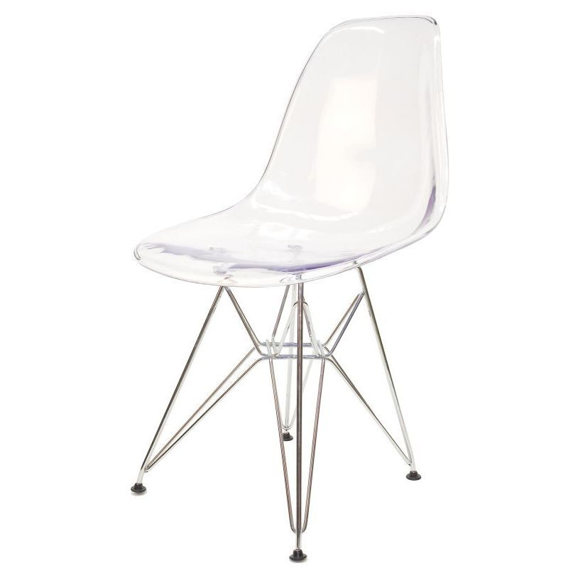 replica eames dsr dining chair in clear chrome buy new arrivals