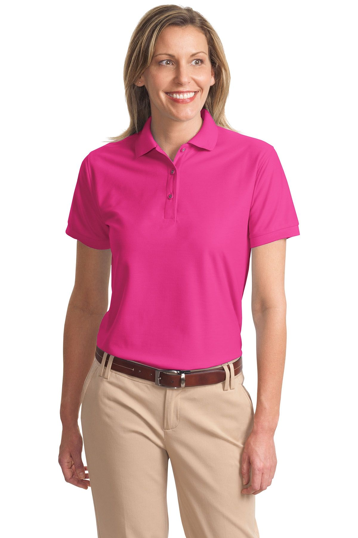 90ad73ce Port Authority Ladies Silk Touch Polo Shirt: A comfortable classic polo,  wrinkle and shrink resistance, silky soft, incredible range of styles, ...