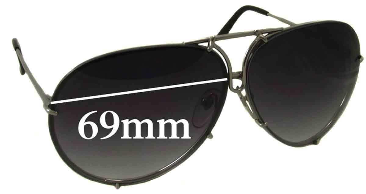 77bf844e25f Sunglass Fix Replacement Lenses for Porsche Design Martini Racing - 63mm  Wide