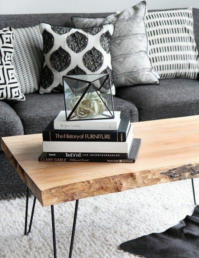 Un Salon En Gris Et Blanc Cest Chic Voilà Photos Qui En - Canapé convertible scandinave pour noël idée tapis salon