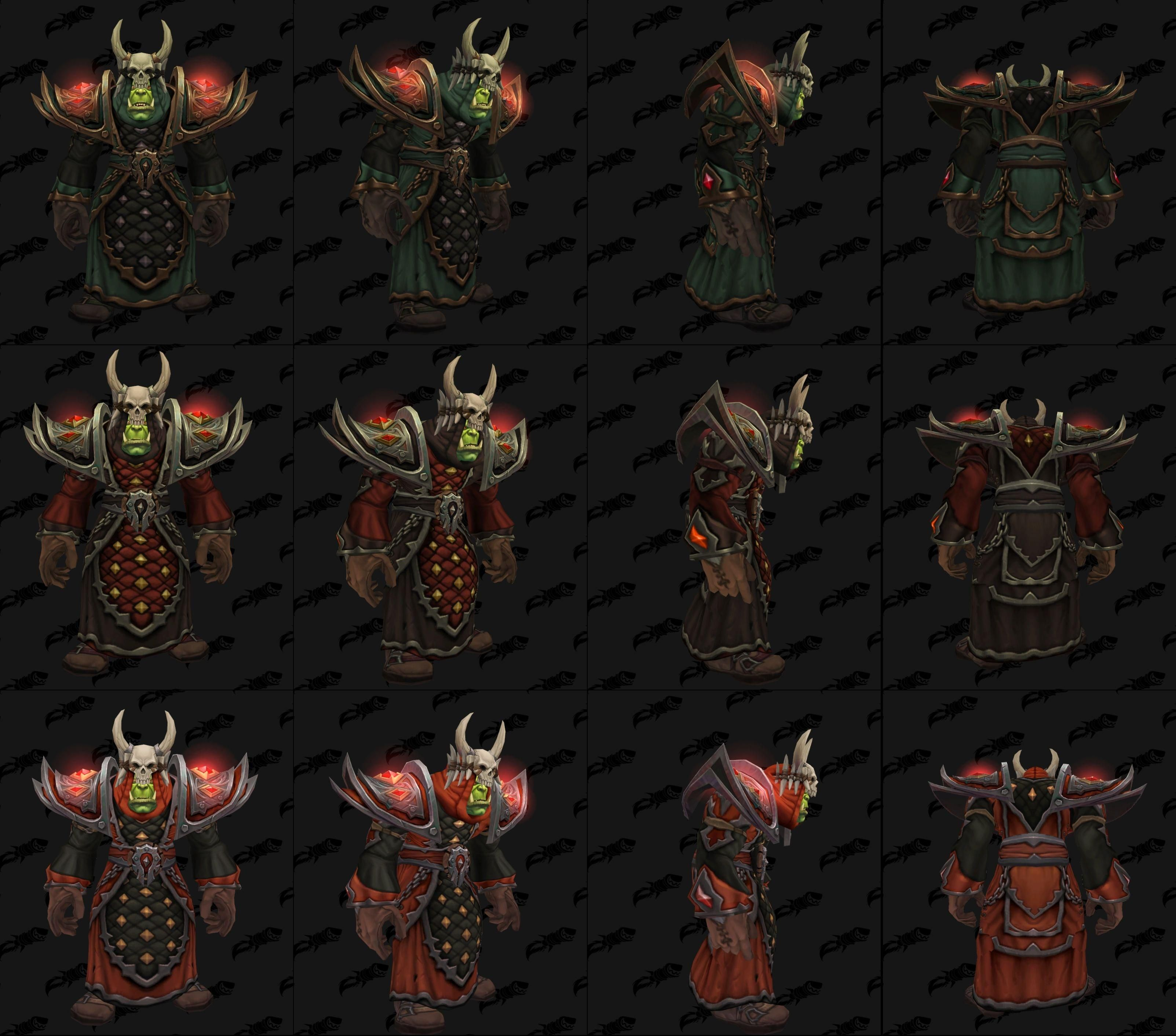 BfA\u0027s Horde cloth warfront armor is a major callback to the Vanilla\u0027s Warlord and High Warlord & BfA\u0027s Horde cloth warfront armor is a major callback to the ...