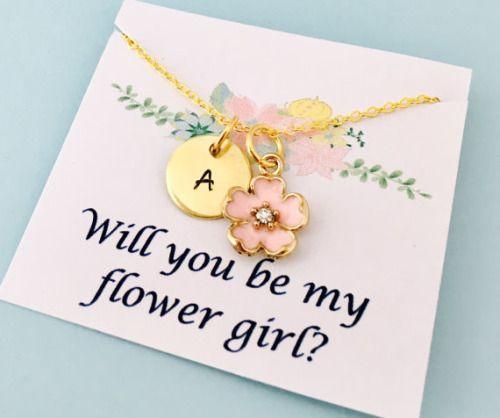 Flower Girl Necklace Flower Girl Gift Will you be my flower...