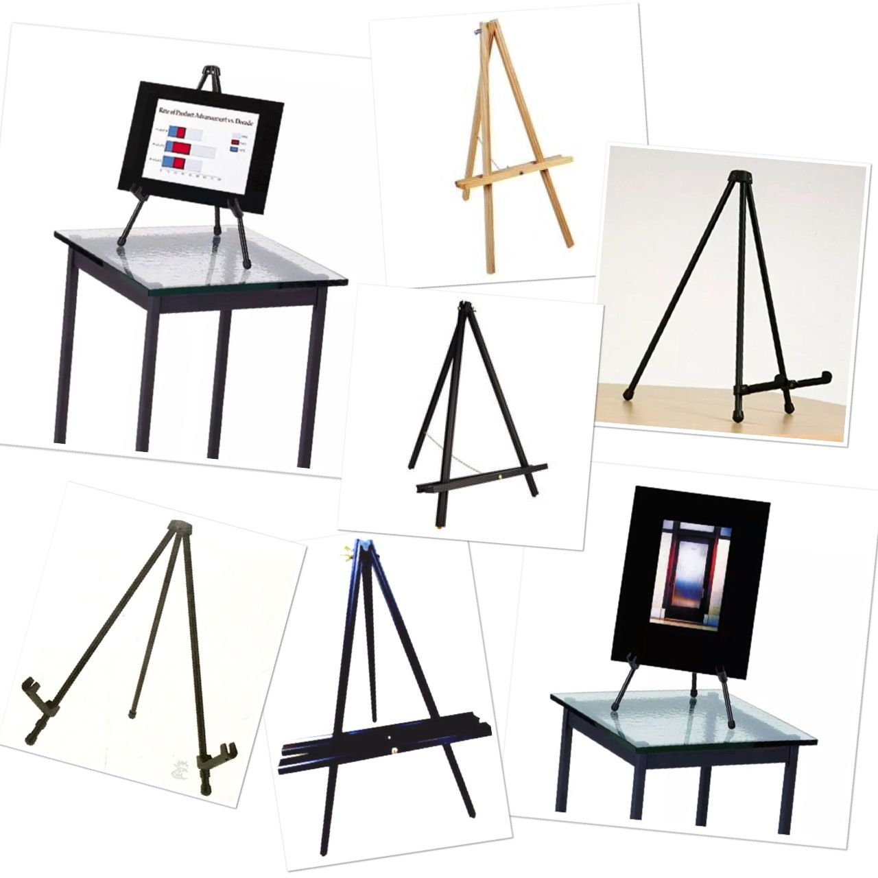 Craft Art Supplies Table Easel Portable Tabletop ARTISTS USEEASELSTO SUPPORT A PAINTING WHILE THEY WORK ON IT OR SOMETIMES TO DISPLAY FINISHED WORK. EASELS ARE AVAILABLE IN A WIDE RANGE OF STYLES AND SIZES, U.S. OFFICE SUPPLY TABLE EASEL, LIGHTWEIGHT, AND STURDY HOLDS CANVAS UP TO 15-INCH, WILL HOLD BOARDS TO 20-INCH BY 24-INCH STURDY TUBULAR LEGS WITH ANTI-SKID FEET FOLDS AND ASSEMBLES EASY AND INSTANTLY NO ASSEMBLY REQUIRED GREAT FOR SIGN & DISPLAY USE STRONG STEEL CONSTRUCTION SUPPORTS…