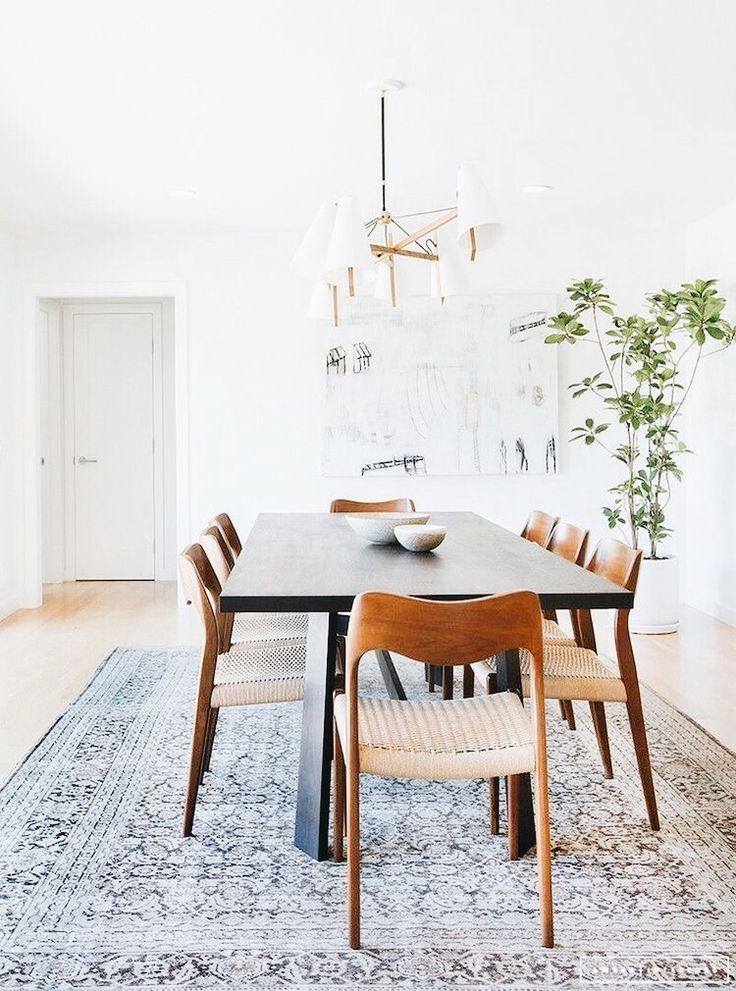 Boho Minimal Dining Room Home Style Minimalist Dining Room Mid Century Dining Room Eclectic Dining Room