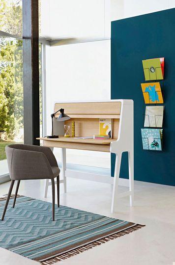 Petit secr taire blanc ultra pratique chambre morlaye pinterest design - Petit secretaire design ...