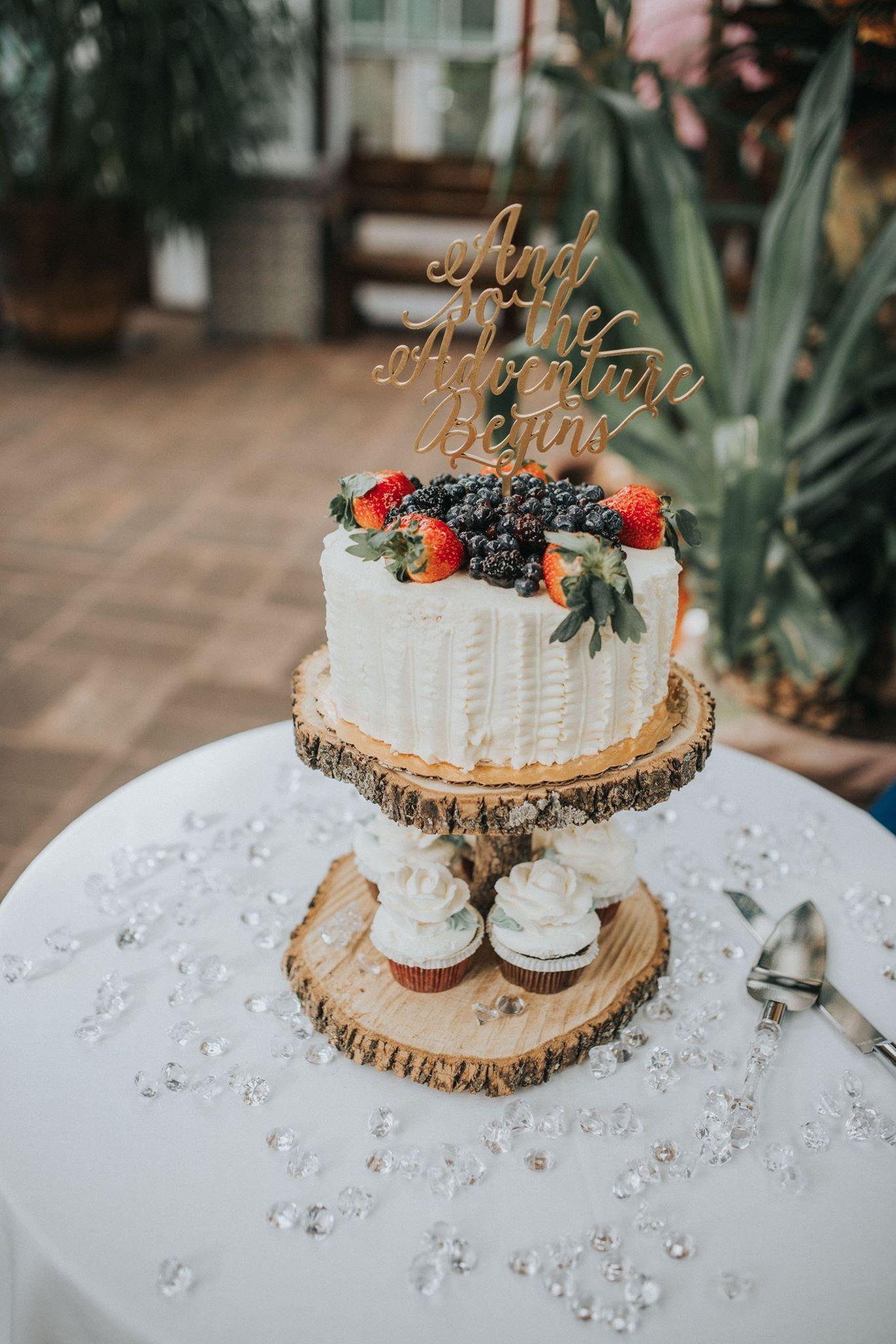 Wedding cake, Whole Foods, berry chantilly, wood cake