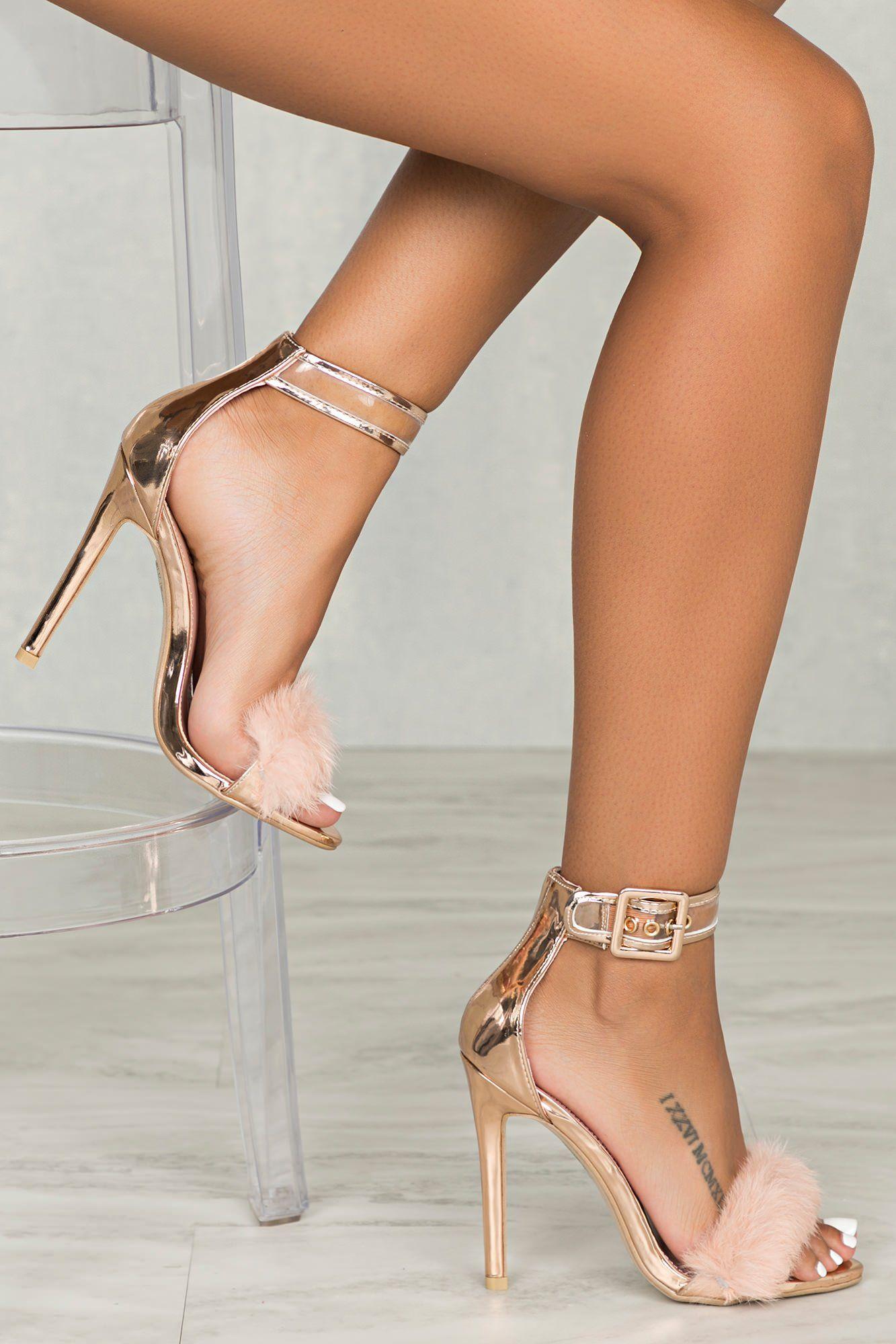 Gold Heel Stilettos