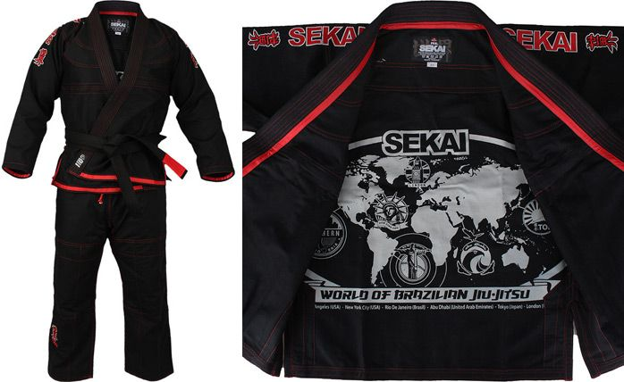 Fuji Sports All Around Mens Brazilian Jiu Jitsu Gi Jiu-Jitsu BJJ  Black on Black