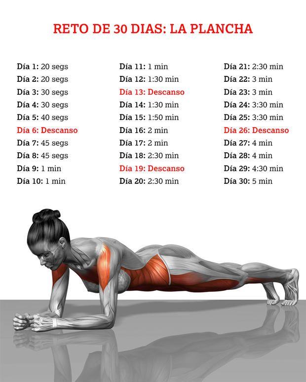 Rutina para abdomen marcado en 30 dias
