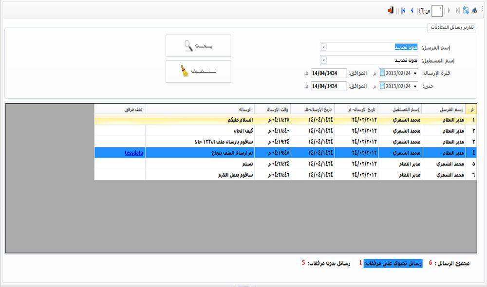 برنامج اتصالات ادارية كامل للشركات و المؤسسات يعمل على تنظيم حركة المستندات بين الادارات بسهولة تقارير رسائل المحادثات Periodic Table