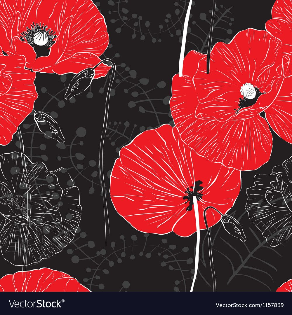 Seamless bright background with flowers Royalty Free