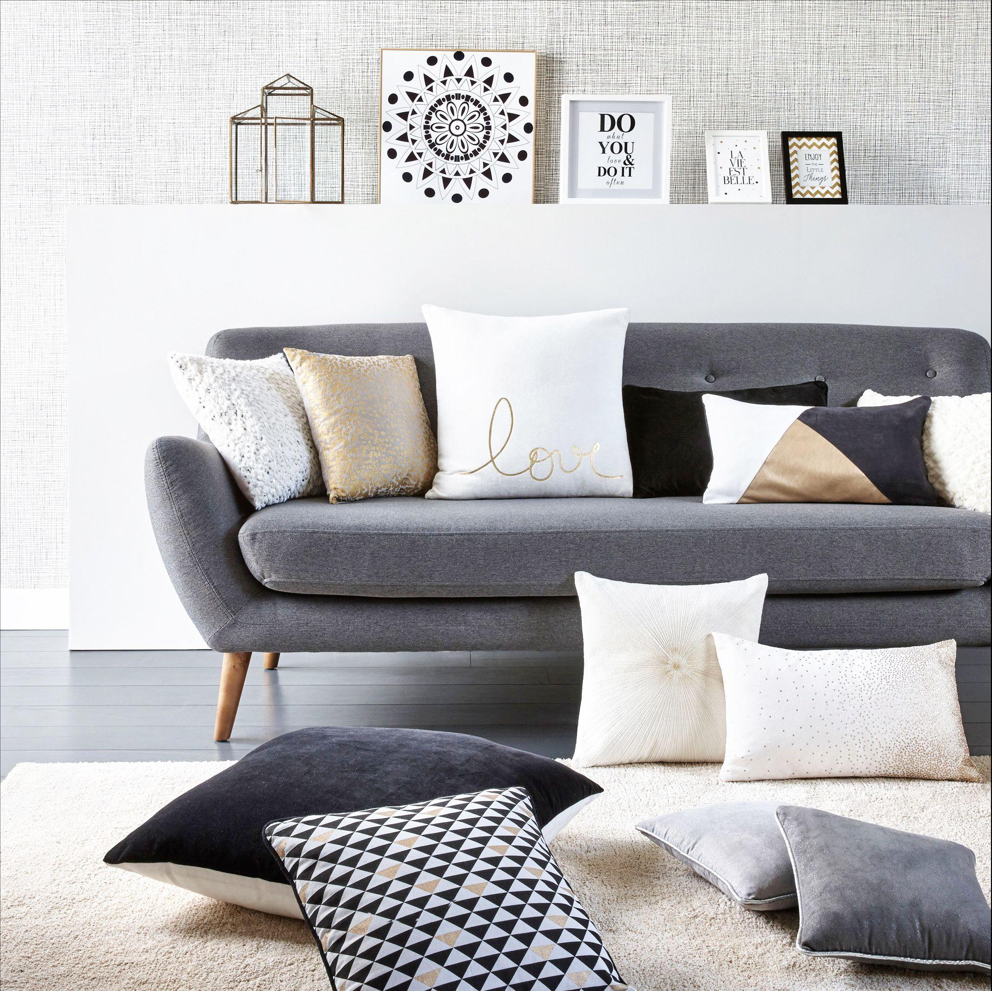 Canapé places scandinave milo tissu gris anthracite salons