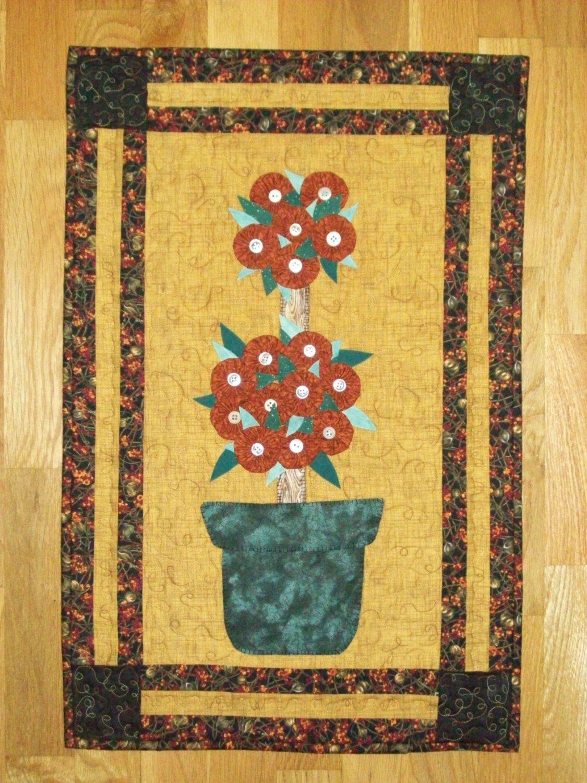 Digital PATTERN 3D Yo Yo Seasonal Flower Topiary Wall hanging ART ...