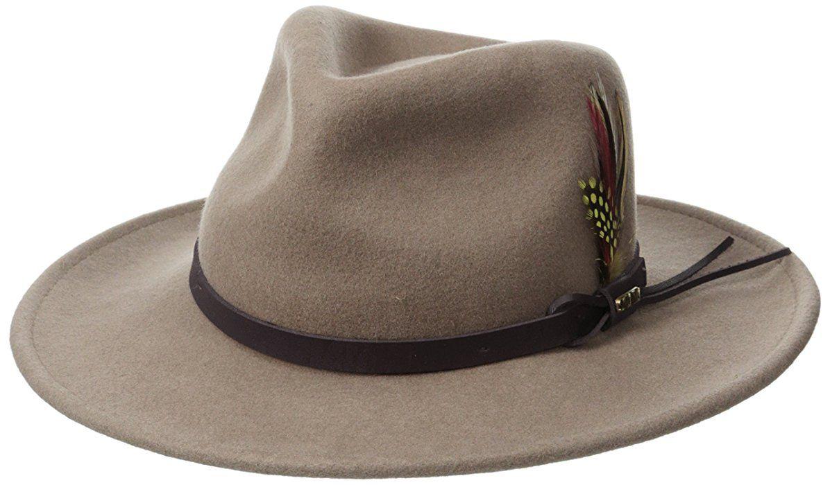 cf5112357a7f67 Scala Classico Men's Crushable Felt Outback, Pecan, Medium at Amazon Men's  Clothing store: Cowboy Hats