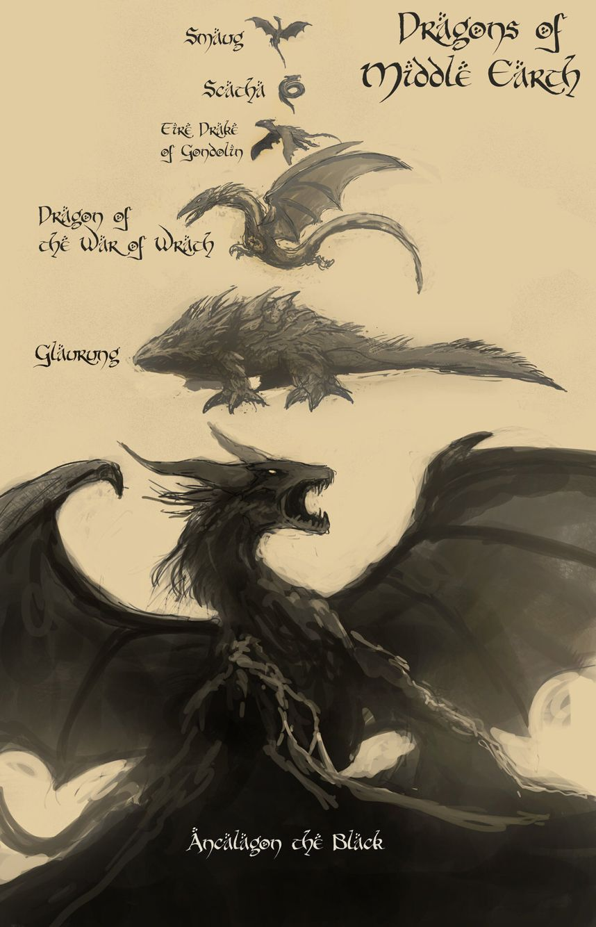Smaug Is Tiny Dragons Of Middle Earth Lotr Tolkien
