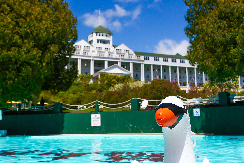 New Pool Floats Grandhotelmichigan Mackinacisland Vacation Swan Floaties Pooltoys Summer Pool Grand Hotel Mackinac Island Grand Hotel Mackinac Island