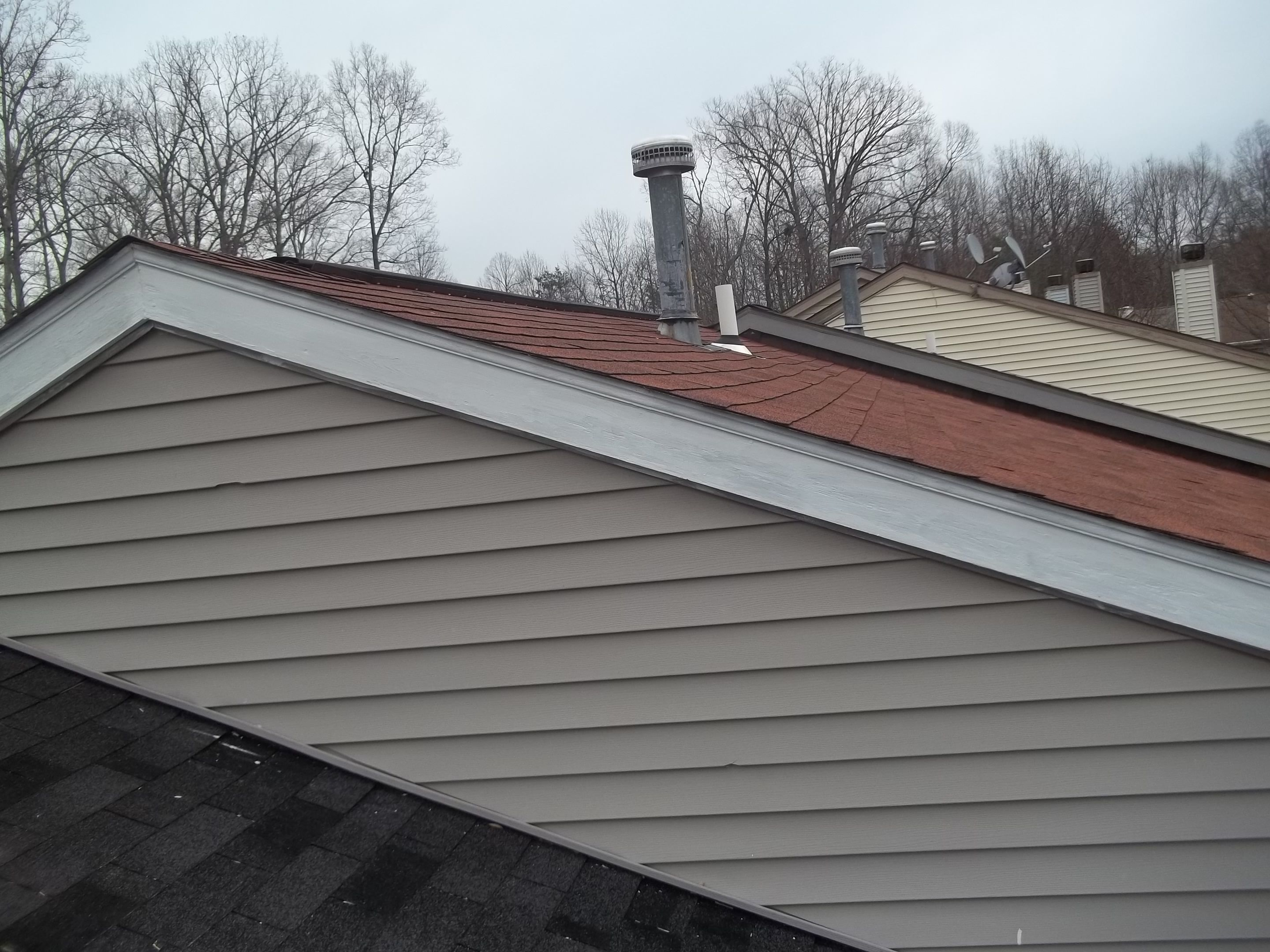 After Photograph Of Completed Rake Board Trim Section