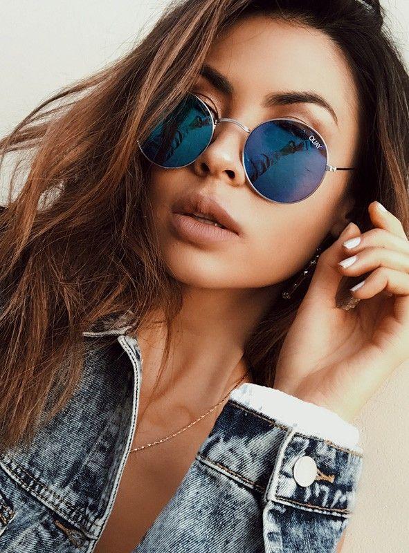 0c695f988c04d Mod Star Sunglasses in Silver Blue by Quay Australia
