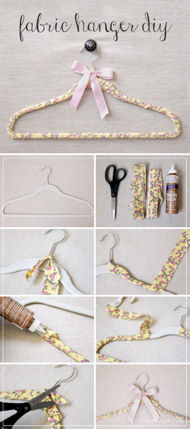 16 Great Diy Hanger Ideas Fabric Hanger Hanger Diy Diy Fabric