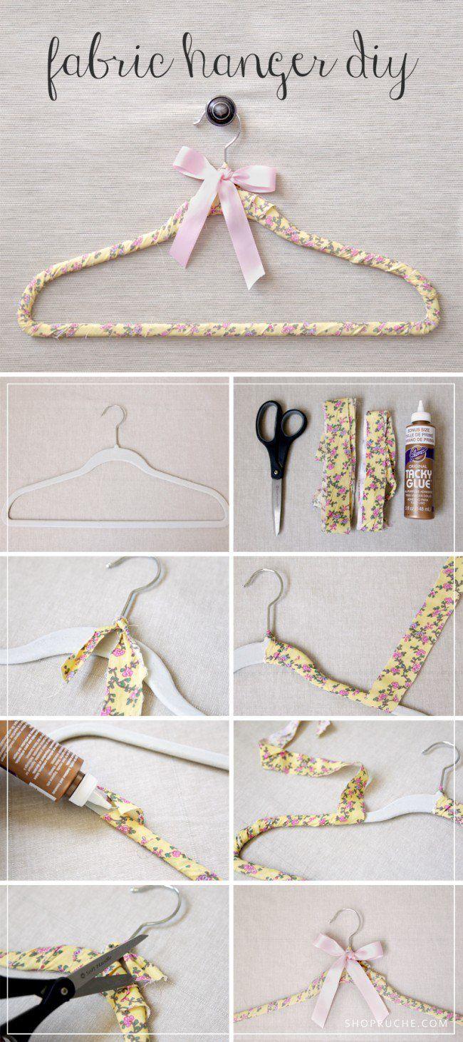 16 Great Diy Hanger Ideas Fabric Hanger Hanger Diy Diy Fabric