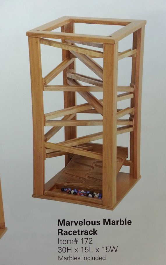 Marbles Racetrack Amish Made Handcrafted Wood By