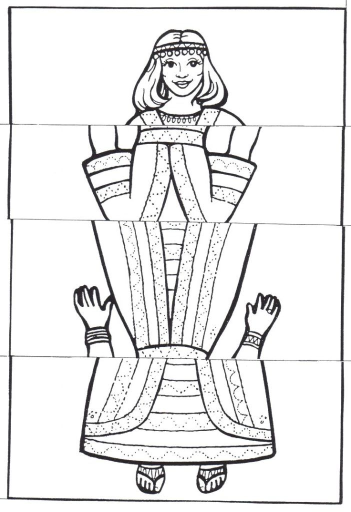 Coloring Pages: Important Queen Esther Craft CRAFT STICK