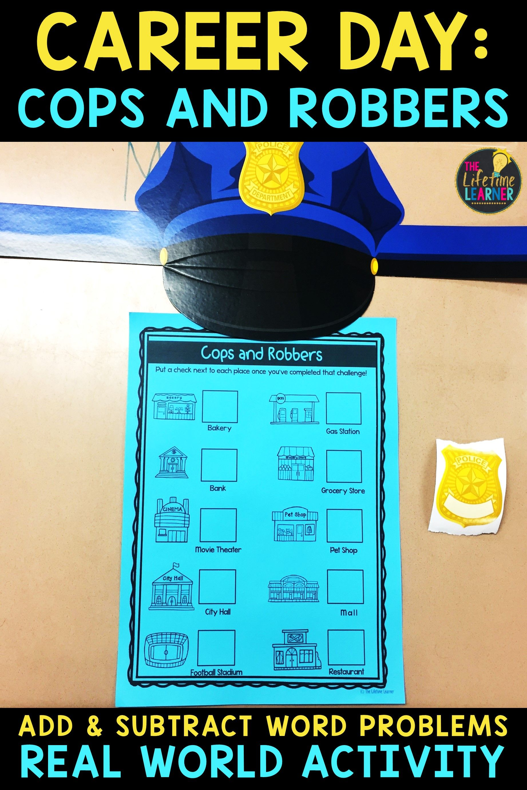 Addition Subtraction Word Problems - Police Officer Classroom ...