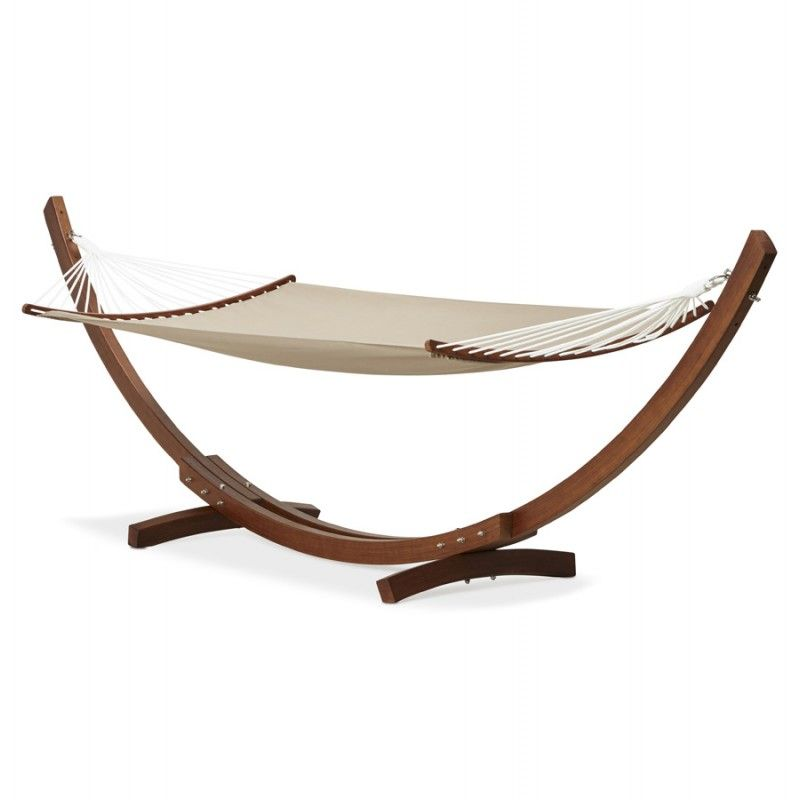 Le hamac pied arqué JULES en bois et toile démontable taupe est le ...