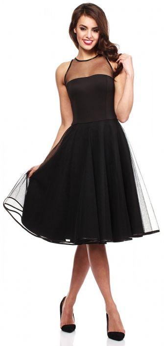 139 90zl Mala Czarna Sukienka Na Sylwestra Jest To Zarowno Rozkloszowana Sukienka Na Wesele I Na Studniowke Jak I Kokta Little Black Dress Dresses Yoke Dress