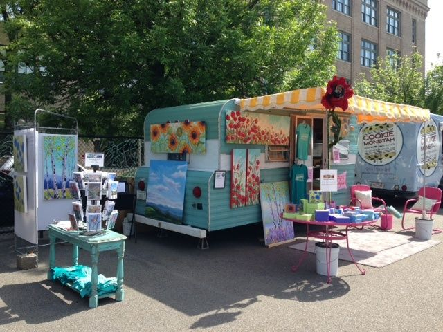 Happy Camper Mobile Art Gallery: I wouldn't sell art out of mine...I'd ...
