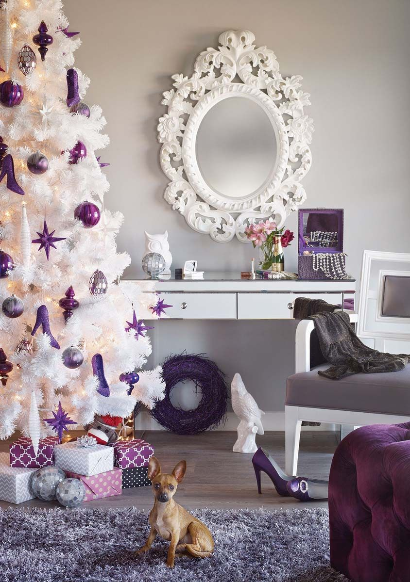 Create a more feminine Christmas tree this year with ...