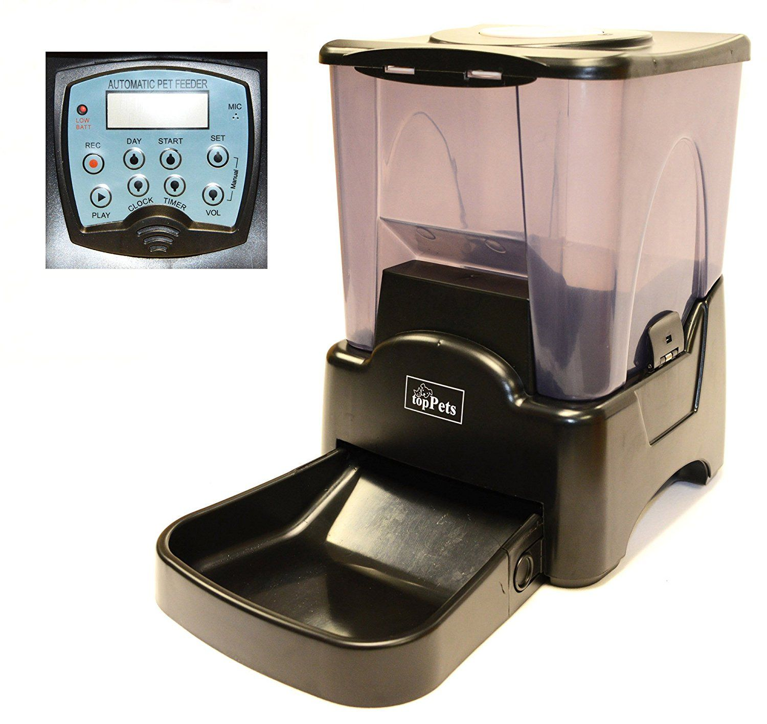 Toppets Large Automatic Pet Feeder Electronic Programmable Portion Control Dog Cat Feeder W Lcd Display Learn More By Vis Cat Feeder Pet Feeder Dog Feeder