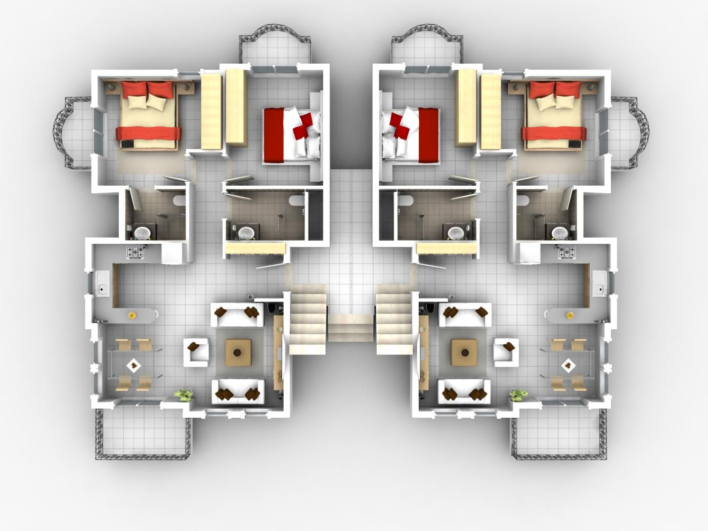 2 bedroom apartmenthouse plans - House Designs Plans