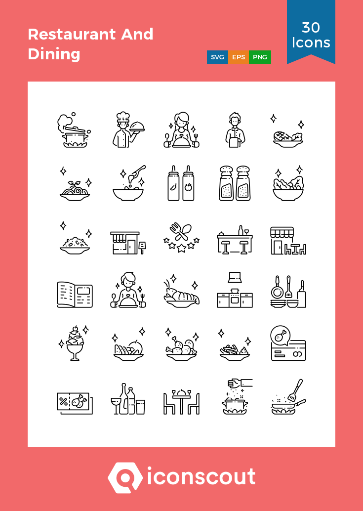 Download Restaurant And Dining Icon Pack Available In Svg Png Eps Ai Icon Fonts Icon Cooking Icon Icon Pack