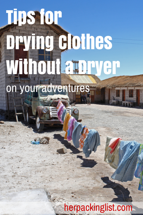 Tips for Drying Clothes Without a Dryer -#herpackinglist