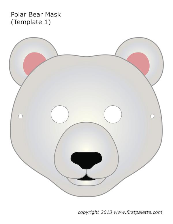 Image Result For Polar Bear Mask For Kids Bear Mask Mask For Kids Printable Halloween Masks