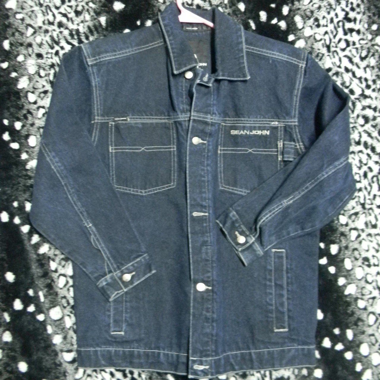 Dm With Any Questions This Is A Sean John Denim Jacket In Excellent Condition With No Rips Or Stains Sleeve To Pit 15 Pit To Pit Denim Jacket Denim Jackets [ 1280 x 1280 Pixel ]