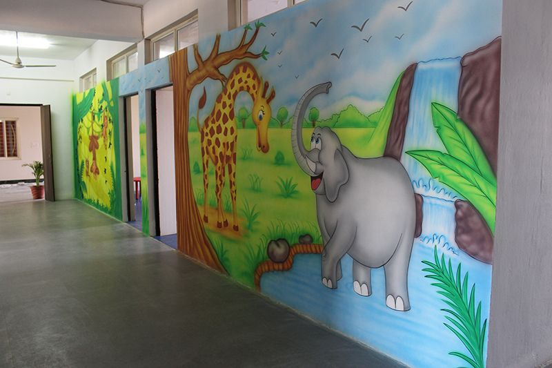 Play School Painting Jabalpur 3D School Wall Painting   Specialized Cartoon  Artist School Wall Painting