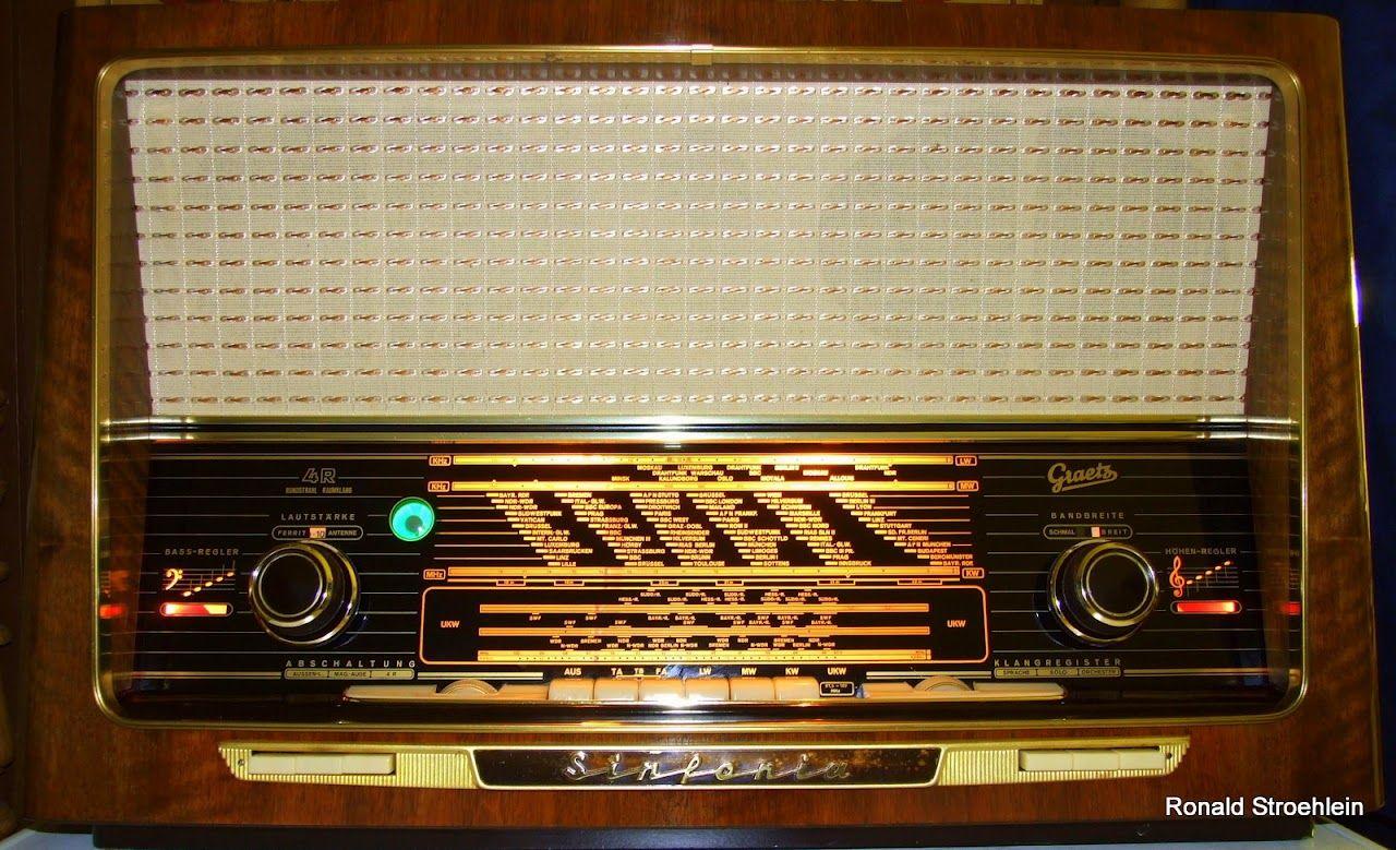 Tube Radio Graetz Sinfonia 4r Ronald Stroehlein Picasa Webalben Antikes Radio Altes Radio Radios