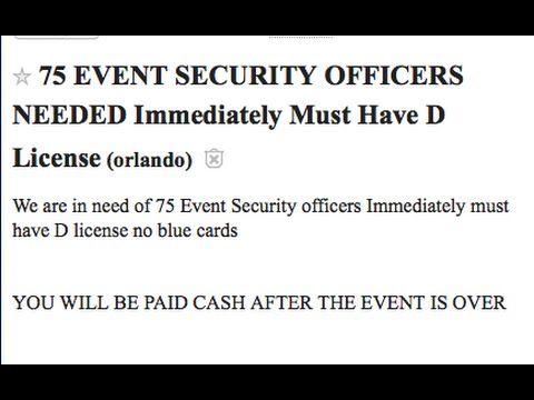 Pulse Orlando shooting Craigslist ad posted 7 days before event - event agendas