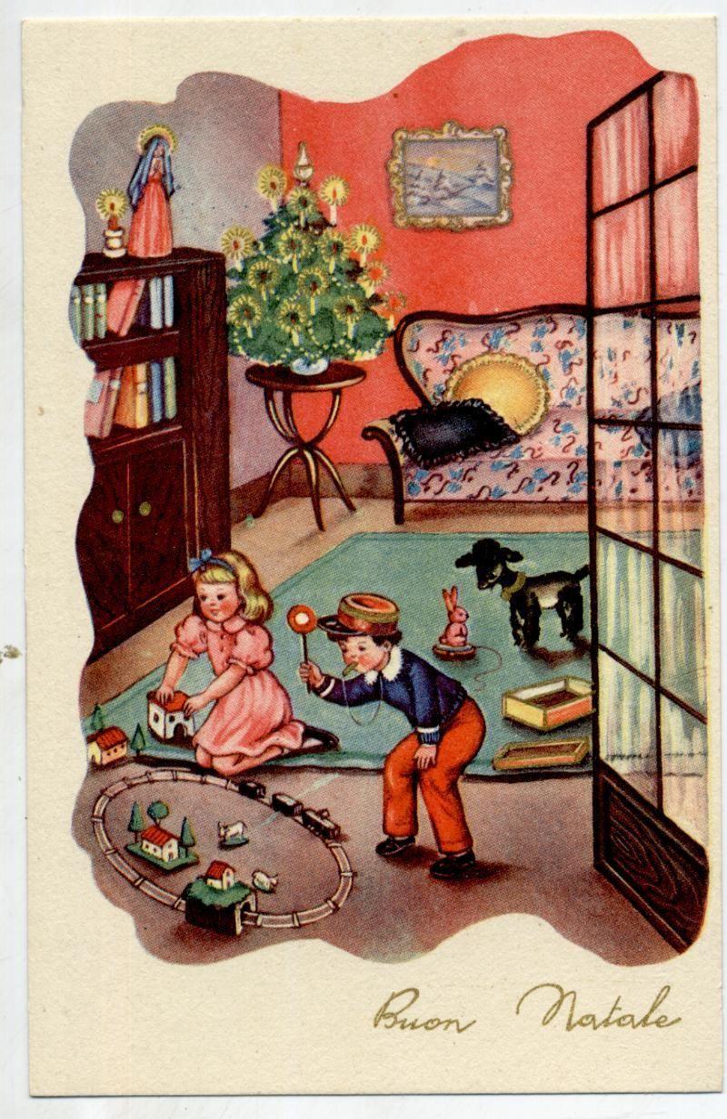 vintage Christmas postcard c.1940   eBay   Vintage Images ...
