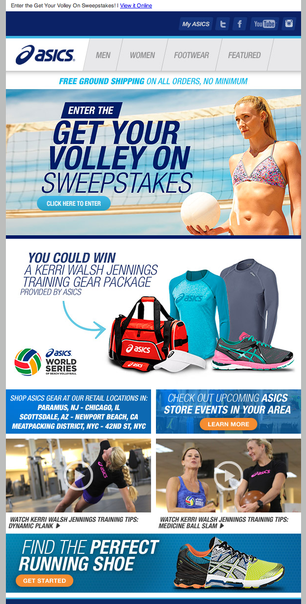 Asics sweepstakes email 2014  2df72891b4c3
