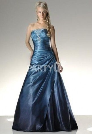 Royal Blue Satin Ball Gown #promdresses | Ball Gowns | Pinterest ...